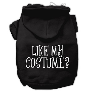Like my costume? Screen Print Pet Hoodies Black Size XS (8)